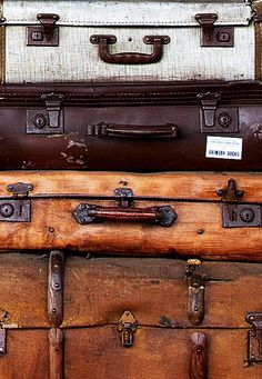 ~stack of vintage suitcases~
