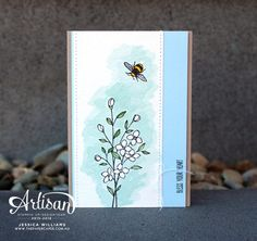 Stampin' Up!'s Touches of Texture stamp set. CASEing Shawn de Oliveira for #GDP040
