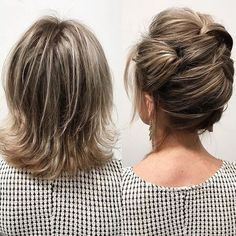 Short hair CAN go up! Today I taught updo techniques to some of the best stylists in the Los Angeles area. Thanks for hav… Short hair CAN go up! Today I taught updo techniques to some of the best stylists in the Los Angeles area. Shoulder Length Hair Balayage, Shoulder Length Hair With Bangs, Layered Haircuts Shoulder Length, Updos For Medium Length Hair, Up Dos For Medium Hair, Short Hair Updo, Medium Hair Styles, Curly Hair Styles, Bridesmaid Hair Medium Length Thin