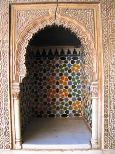 Hall of the Ambassadors,The Royal Complex, Alhambra, Granada, Spain Islamic Architecture, Beautiful Architecture, Art And Architecture, Architecture Details, Alhambra Spain, Granada Spain, Ancient Persian, Seville Spain, Fancy Houses