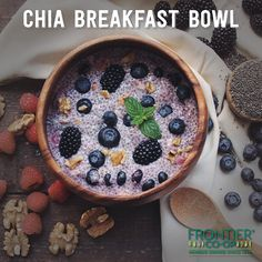 We teamed up with @whereisksenia to create this super-food breakfast bowl using chia seeds and goji berries. Try the recipe out.