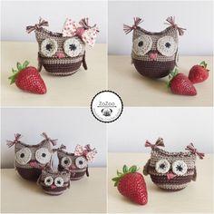 Handmade crochet amigurumi owl family #owl #crochet #amigurumi