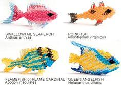 Beaded Fish PATTERN tutorial seed twin