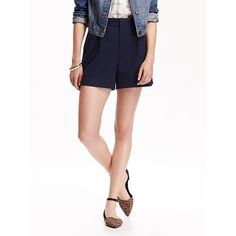 "Old Navy Womens High Rise Twill Shorts 4 1/2"" ($19) ❤ liked on Polyvore"