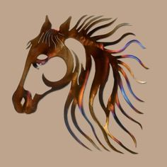 Metal Horse Wall Art beautiful horse head wall artmissmetalworx on etsy | obje