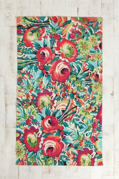 UrbanOutfitters.com > 3x5 Bouquet Rug. I was thinking possible for the kitchen to go with my colorful Mexican decor.