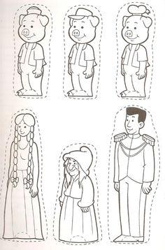 Três Porquinhos e Rapunzel - Personagens