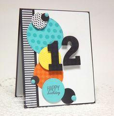 Birthday Greetings; Spring Backgrounds; Darling Dots; Washi Patterns; Big Numbers Die-namics; Pierced Circle STAX Die-namics - Jackie Pedro