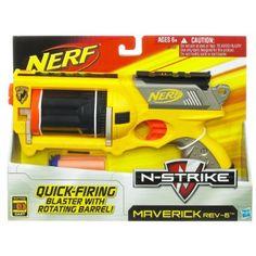 Amazon.com: Nerf N-Strike Maverick - Colors May Vary: Toys & Games $11