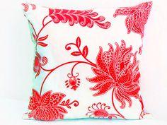Flower tropical pillow sham  20x20 18x18 pillow cover  par SABDECO