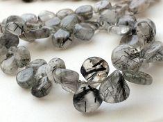 Rutile Quartz Beads Rutiliated Quartz Plain Heart by gemsforjewels