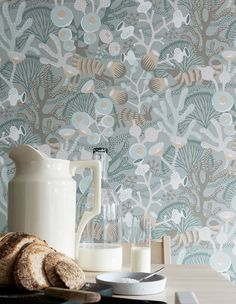 Brewster Home Fashions Wonderland Korall Meadow x Wallpaper Roll Wallpaper Samples, Wallpaper Online, Wallpaper Roll, Cool Wallpaper, Pattern Wallpaper, Scandi Wallpaper, Swedish Wallpaper, Hallway Wallpaper, Bedroom Wallpaper