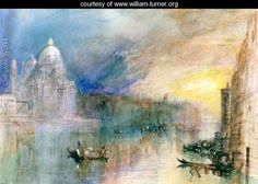 Venice Grand Canal with Santa Maria della Salute - Joseph Mallord William Turner - www.william-turner.org