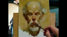 """""""The poet"""", alla prima portrait demo of Gregory, a 130 minutes painting by Zimou Tan, via YouTube."""