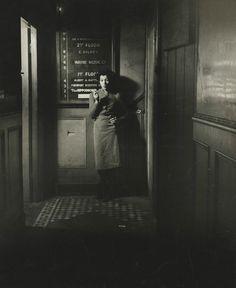 Outside a Soho Nightclub, 1942. by Bill Brandt