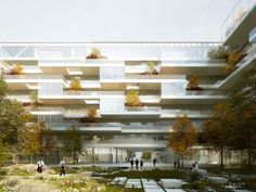 Draft mixed building ZAC Garonne Eiffel in Bordeaux (2014) - The Other Image