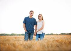 Rustic Engagement Portraits. Wheat Field. Erin Kata Photography.