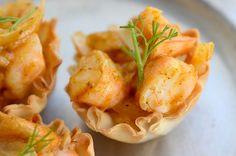 Curried shrimp cups recipe