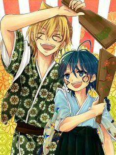 Magi | Alibaba  Aladdin Anime Magi, Manga Anime, Hakuryuu Ren, Aladdin Magi, A 1 Pictures, The Kingdom Of Magic, Ali Baba, Sinbad, Friends Are Like