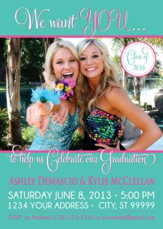 GRADUATION PARTY invitation announcement