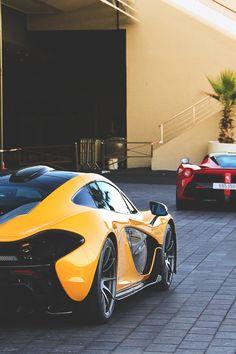 Ferrari #LaFerrari & McLaren P1. More #sports #cars pics at www.fabuloussavers.com/wcarstwo.shtml Thank you for viewing!
