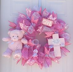 A personal favorite from my Etsy shop https://www.etsy.com/listing/221258265/baby-wreath-baby-shower-wreath-hospital