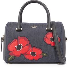 Kate Spade New York Cameron Street Poppy Large Lane Satchel ($298) ❤ liked on Polyvore featuring bags, handbags, blue handbags, blue purse, dome purse, handle satchel and satchel handbags