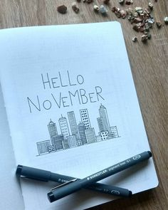 Just started with my setup for November. Can you guess the theme? Just started with my setup for November. Can you guess the theme? Journal Layout, Journal Covers, Journal Pages, Bullet Journal Ideas Pages, Bullet Journal Inspiration, Bullet Journals, My Planner Colibri, Bujo Inspiration, Hello November