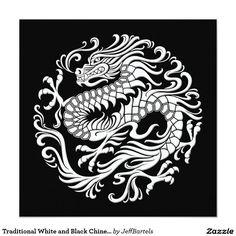 Traditional White and Black Chinese Dragon Circle Invitation Dragon Tattoo Circle, Small Dragon Tattoos, Circle Tattoos, Dragon Tattoo Designs, Body Art Tattoos, Chinese Dragon Drawing, Chinese Dragon Tattoos, Japanese Dragon, Chinese Art