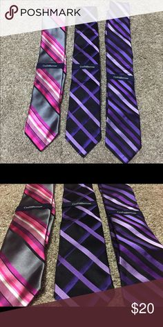 Men's ties Three men's ties, gorgeous colors! Would prefer to sell as set. Brand new, never worn. Smoke free home. Croft & Barrow Other