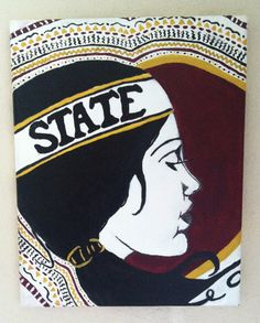 "Florida State Seminoles ""FSU Girl"" Painting on Etsy, $40.00"