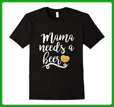 Mens Mama Needs A Beer Oktoberfest 2017 tshirt Medium Black - Food and drink shirts (*Amazon Partner-Link)