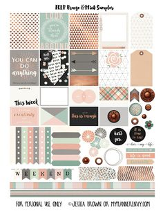FREE Printable Bronze & Mint Sampler for the Erin Condren Life Planner