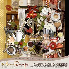 Cappuccino Kisses {Page Kit} #digiscrap #digitalscrapbooking #thestudio