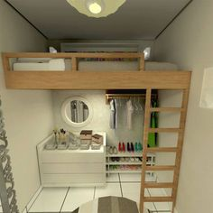 Modifique os padrões Small Apartments, Small Spaces, Small Room Design, Bedroom Layouts, Girl Room, Interior Design Living Room, Room Decor, Decoration, Furniture