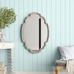 One Allium Way Wood Accent Mirror Cottage Wall Mirrors, Wall Mirrors Set, Mirrors For Sale, Mirror With Shelf, Mirror Set, Bathroom Mirrors, Traditional Wall Mirrors, Contemporary Wall Mirrors, Modern Contemporary