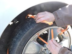 If you can use a zip tie, you can install Zip Grip Go to help get you unstuck from snow, ice or mud.  Simply wrap through your tire rim...