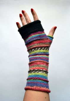 Merino Wolle Fingerlose Handschuhe - Fingerlose Handschuhe - Fashion-Handschuhe - Rainbow Fingerlose Handschuhe keine 49.