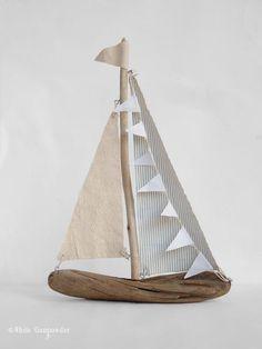 DIY Driftwood Sailboats (Honest Tip: Use non-toxic glue!)