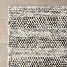 Handwoven with New Zealand wool, the Naperville Grey Rug is a rustic yet modern addition to the room. There's a beautiful pattern play between the subtle stripe and repetitive design. Contemporary Area Rugs, Modern Rugs, Farmhouse Area Rugs, Modern Farmhouse, Kids Area Rugs, Kitchen Area Rugs, Apartment Decorating On A Budget, Rustic Rugs, Entry Rug