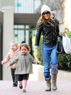 Sarah Jessica Parker enjoys a special outing with her 2-year-old twins, Tabitha and Loretta, in New York City.