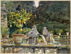 Toscane, Lucques, Villa di Marlia, par John Singer Sargent.