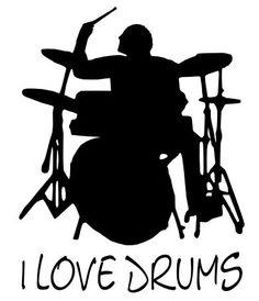 Drummer Drums Drum Schlagzeug - Wandtattoo 23x30cm B227 (schwarz): Amazon.de: Küche & Haushalt
