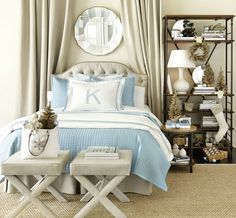 We love the way Suzanne Kasler's linens feel polished and classic in this elegant bedroom.