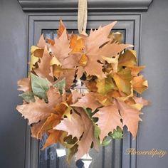Flowerdipity kind of door Fruit Arrangements, Door Wreath, Copper, Bronze, Leaves, Autumn, Colors, Amazing, Flowers