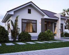 House Helpful Techniques For Vegetable Gardening Modern Small House Design, Simple House Design, Minimalist House Design, House Front Design, Modern Bungalow House, Kerala Houses, Kerala House Design, Dream House Exterior, Facade House