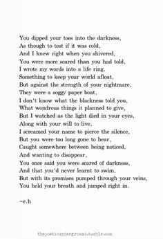 Darkness by Erin Hanson (e.h.), February 24th 2014
