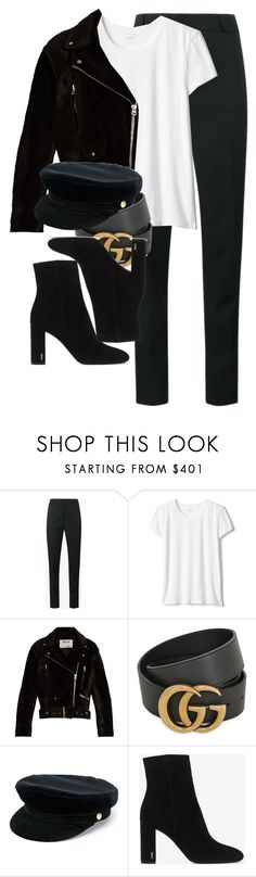 """Sem título #911"" by jannipher-corpes on Polyvore featuring moda, Yves Saint Laurent, Acne Studios, Gucci e Manokhi"