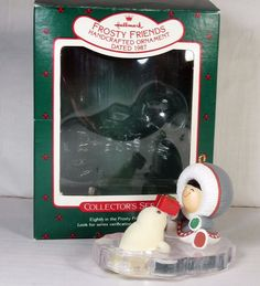 Hallmark Frosty Friends ornament 1987 8th in series Eskimo and Seal with box
