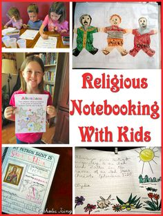 religious notebooking with catholic kids
